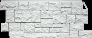 Фасадная панель FineBer Камень Дикий Мелованный Белый