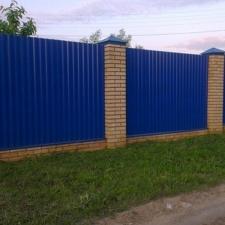 """Забор из Профнастила с Полимерным покрытием """"Под Ключ"""" 2.0 м. Синий"""