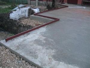Заливка бетонной площадки 200 мм