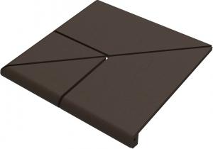 Ступень Ecoclinker угловая 4х составная 330х3300х14мм,  Natural Brown Натурал Коричневый