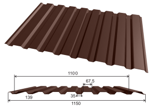 МП-20 Профнастил RAL 8017 Шоколад