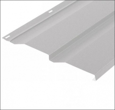 Сайдинг металлический КОРАБЕЛЬНАЯ ДОСКА RAL 9003 Сигнально Белый 0,4 мм.
