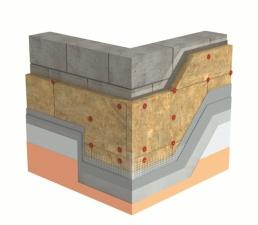 Система на утепления минеральной ватой с финишной штукатурным слоем
