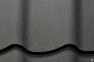 Металлочерепица Супермонтеррей Серый Матовый