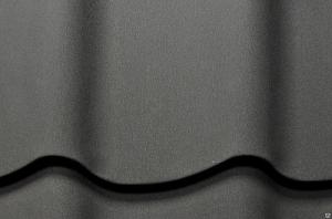 Металлочерепица Супермонтеррей Чёрный Матовый