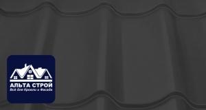 Металлочерепица Призма Prasma RAL 7024 Серый