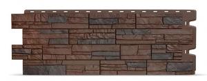 Фасадная панель Docke Stein (Мелкий камень) Тёмный орех