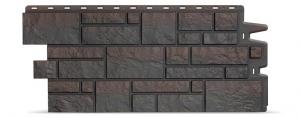 Фасадная панель Docke Burg (Крупный камень) Тёмный
