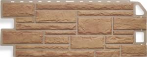 Фасадная панель Альта-Профиль Камень Бежевый