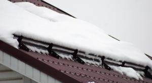 Снегозадержатель трубчатый 1 м. Красно-Коричневый