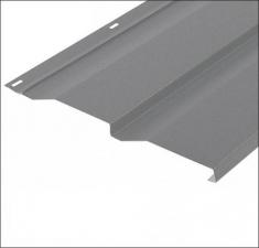 Сайдинг металлический КОРАБЕЛЬНАЯ ДОСКА RAL 7004 Серый 0,45 мм.