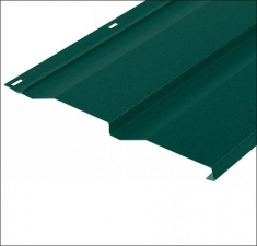 Сайдинг металлический КОРАБЕЛЬНАЯ ДОСКА RAL 6006 Зелёный Мох 0,45 мм.