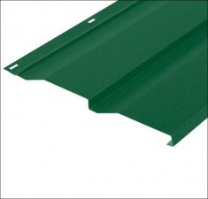 Сайдинг металлический КОРАБЕЛЬНАЯ ДОСКА RAL 6002 Зелёный 0,45 мм.