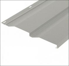 Сайдинг металлический КОРАБЕЛЬНАЯ ДОСКА RAL 9002 Белый 0,45 мм.