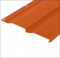 Сайдинг металлический КОРАБЕЛЬНАЯ ДОСКА RAL 2014 Оранжевый 0,5 мм.