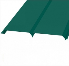 Сайдинг металлический БРУС (L-брус) RAL 6005 Зелёный Мох
