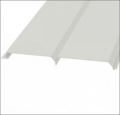 Сайдинг металлический БРУС (L-брус) RAL 9002 Белый
