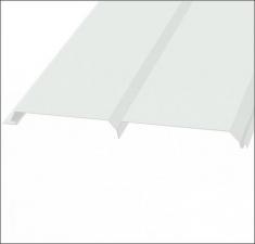 Сайдинг металлический БРУС (L-брус) RAL 9003 Сигнально Белый