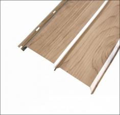 Сайдинг металлический БРУС (L-брус) Светлое Дерево 3Д