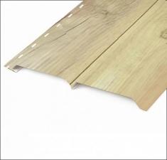 Сайдинг металлический БРУС (L-брус) Светлое Дерево Матовый