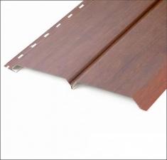 Сайдинг металлический БРУС (L-брус) Тёмное Дерево 3Д